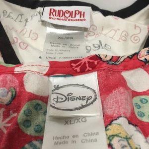 Disney Tops - Rudolf scrub / Disney scrub x large